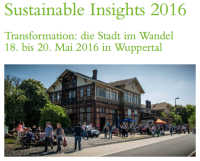 Sustainable Insights 2016 Ankündigung